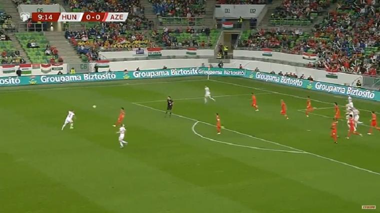 Évek óta nem lőtt senki akkora gólt a magyar válogatottban, mint Korhut balhátvéd az előbb