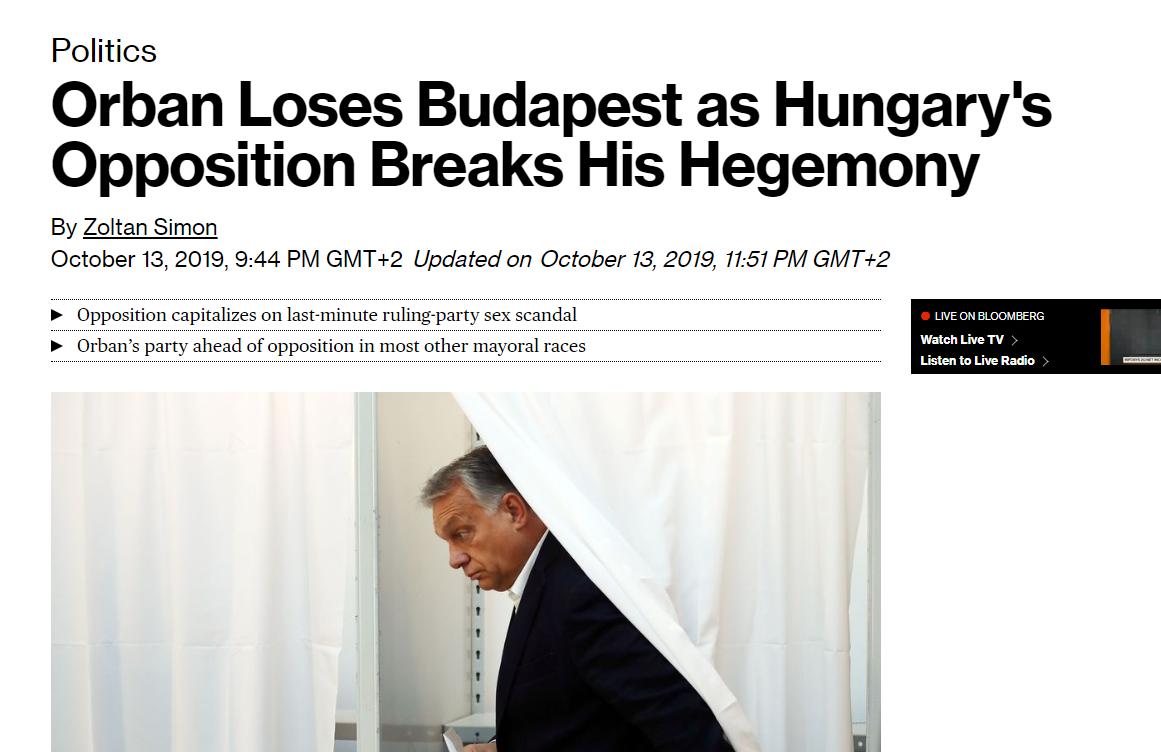 Orbán vereségeként írnak a vasárnapi választásról a világsajtóban