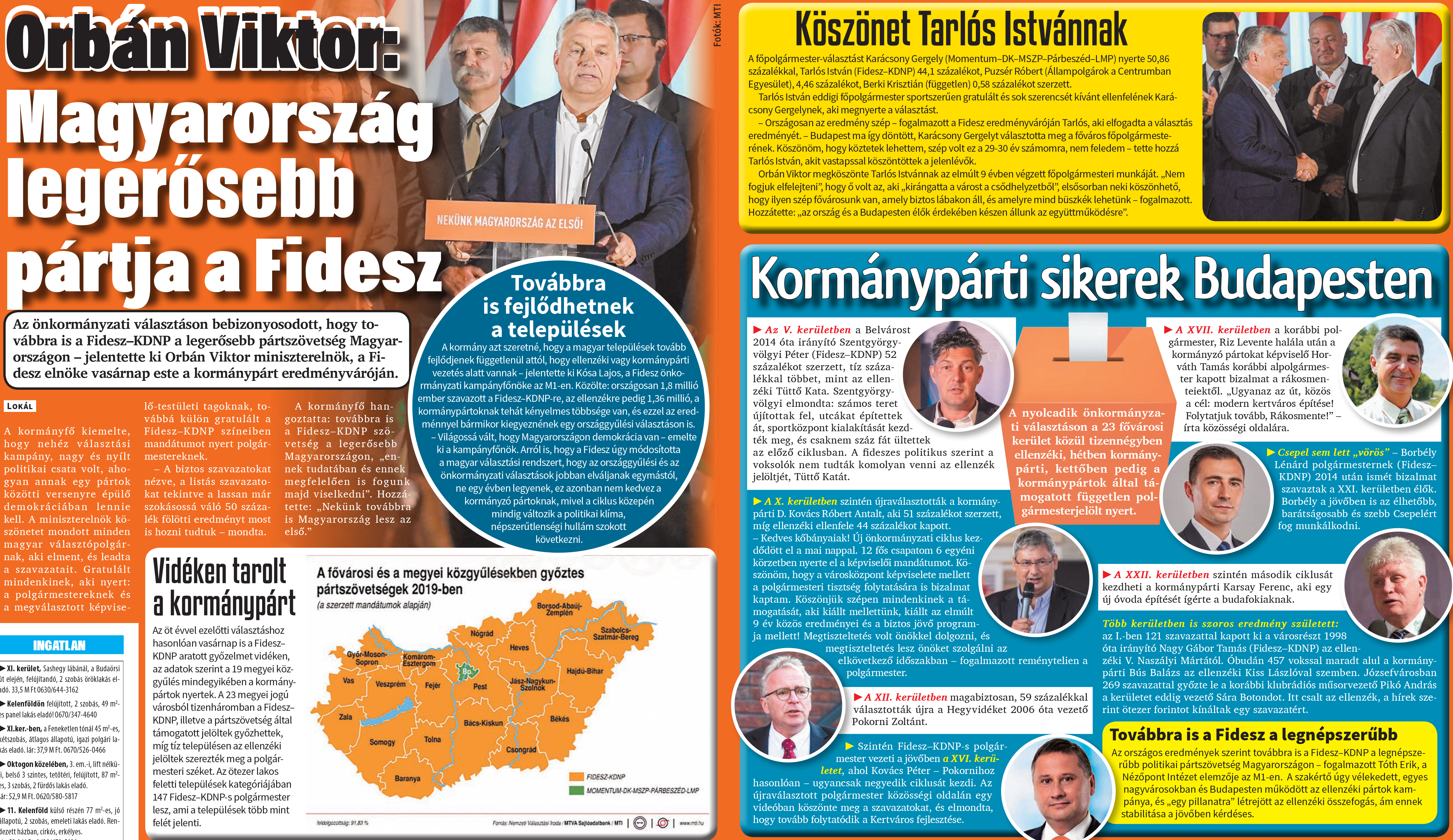 Második napja ünnepli a mindent elsöprő Fidesz-győzelmet a Lokál