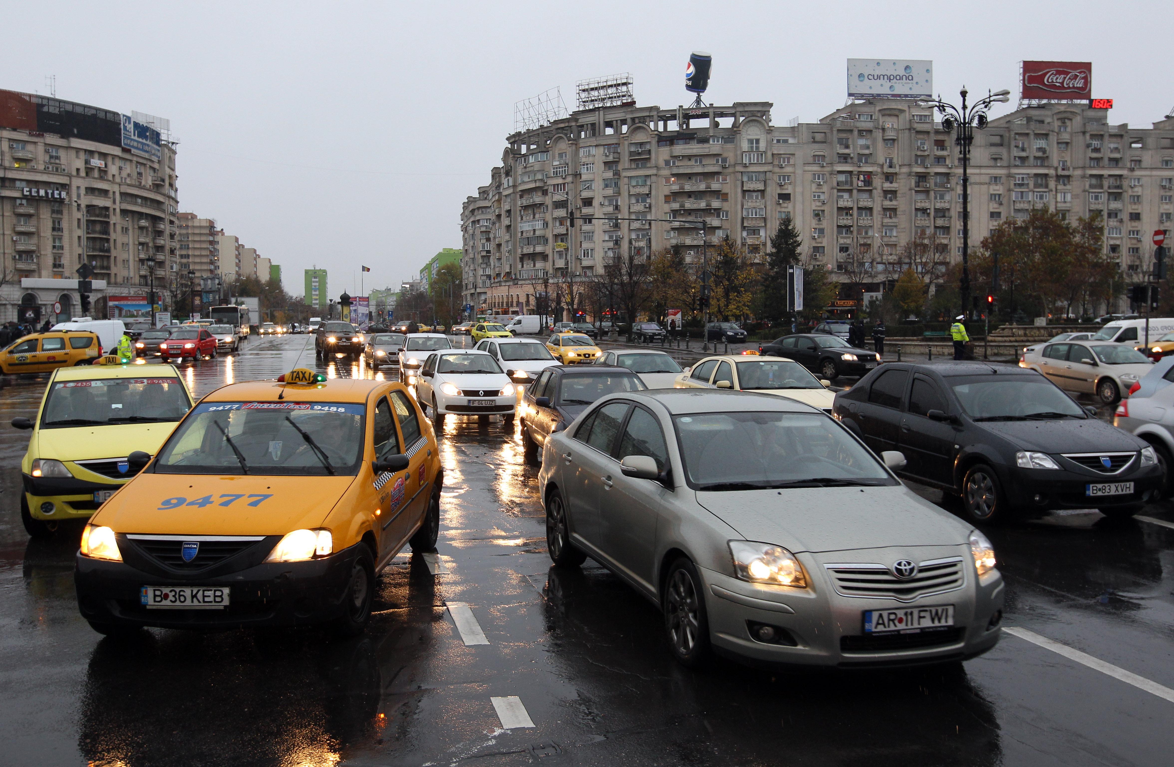 Szigorítják az autók behajtását Bukarest belvárosába