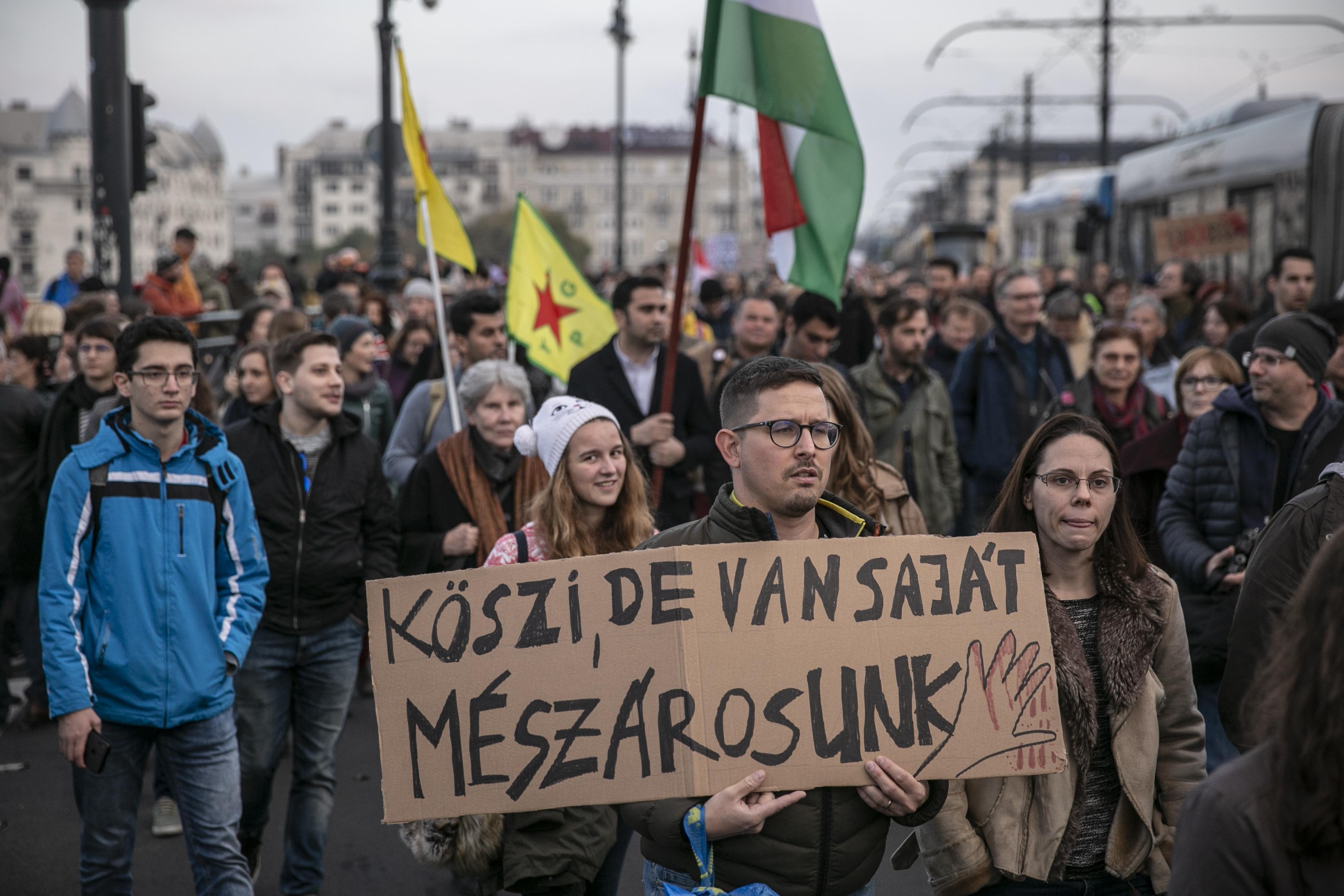 48 óra közérdekű munkára ítélték az Erdogan elleni tüntetésen késsel fenyegetőző férfit