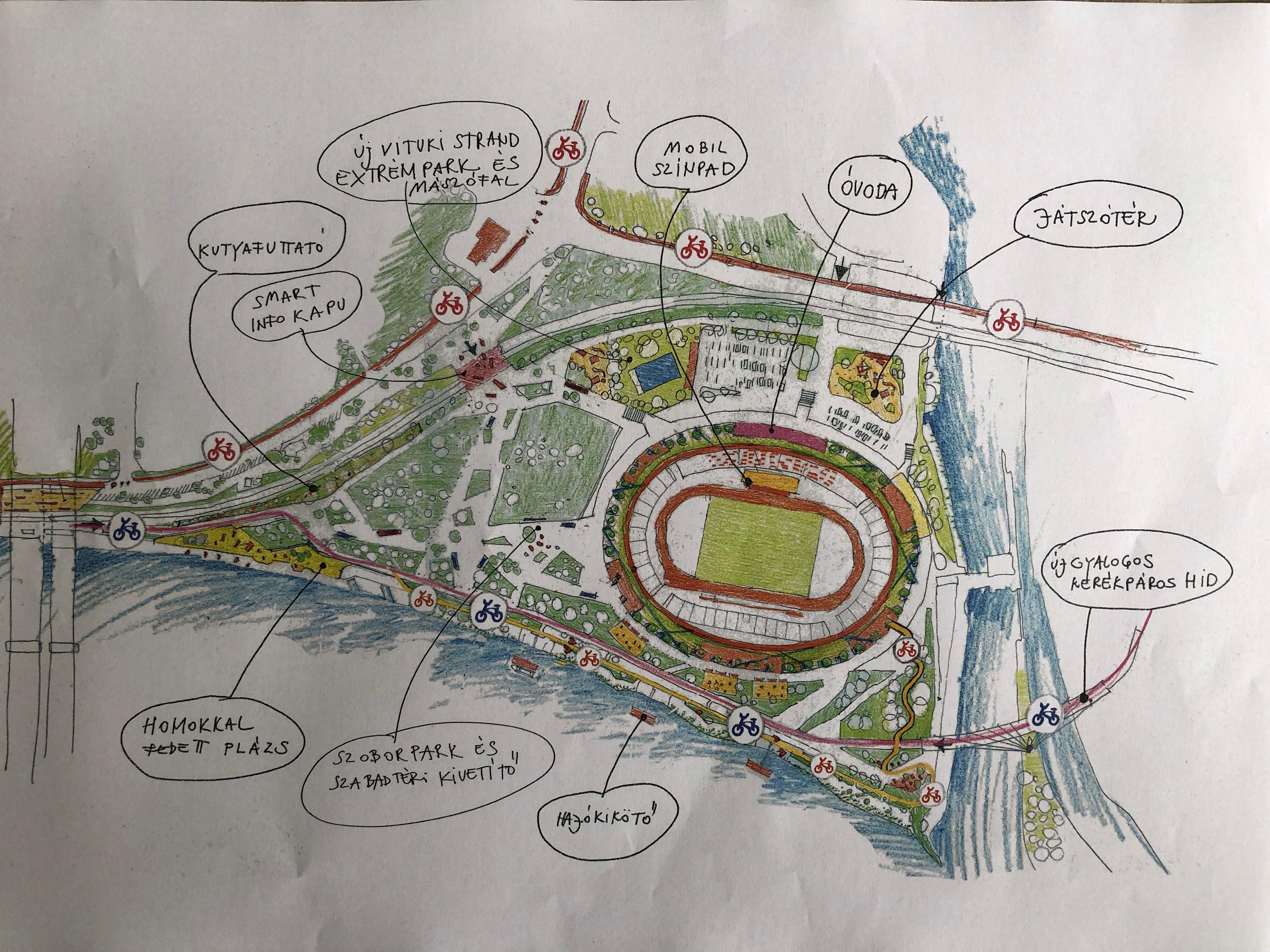 Alternatív tervet mutatott be az atlétikai világbajnokságra tervezett stadion helyszínére Baranyi Krisztina polgármester