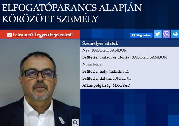 A külföldre menekült Balogh Sándor bűntársai elismerték bűnösségüket