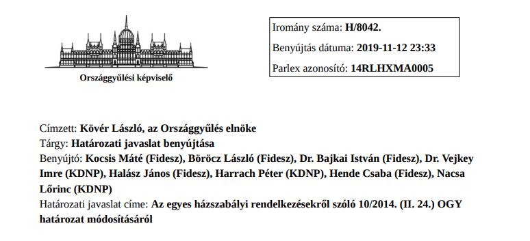 A Fidesz egy módosítással saját maga szabná meg az ellenzéki pártok struktúráját