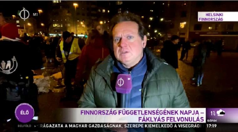 Hazafias lelkületű állampolgárok békés felvonulásának nevezi a köztévé a finn neonácik vonulását