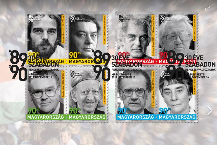 Annak, aki átélte, egészen hihetetlen, hogy kik kerültek rá a rendszerváltásról megemlékező 8 bélyegre