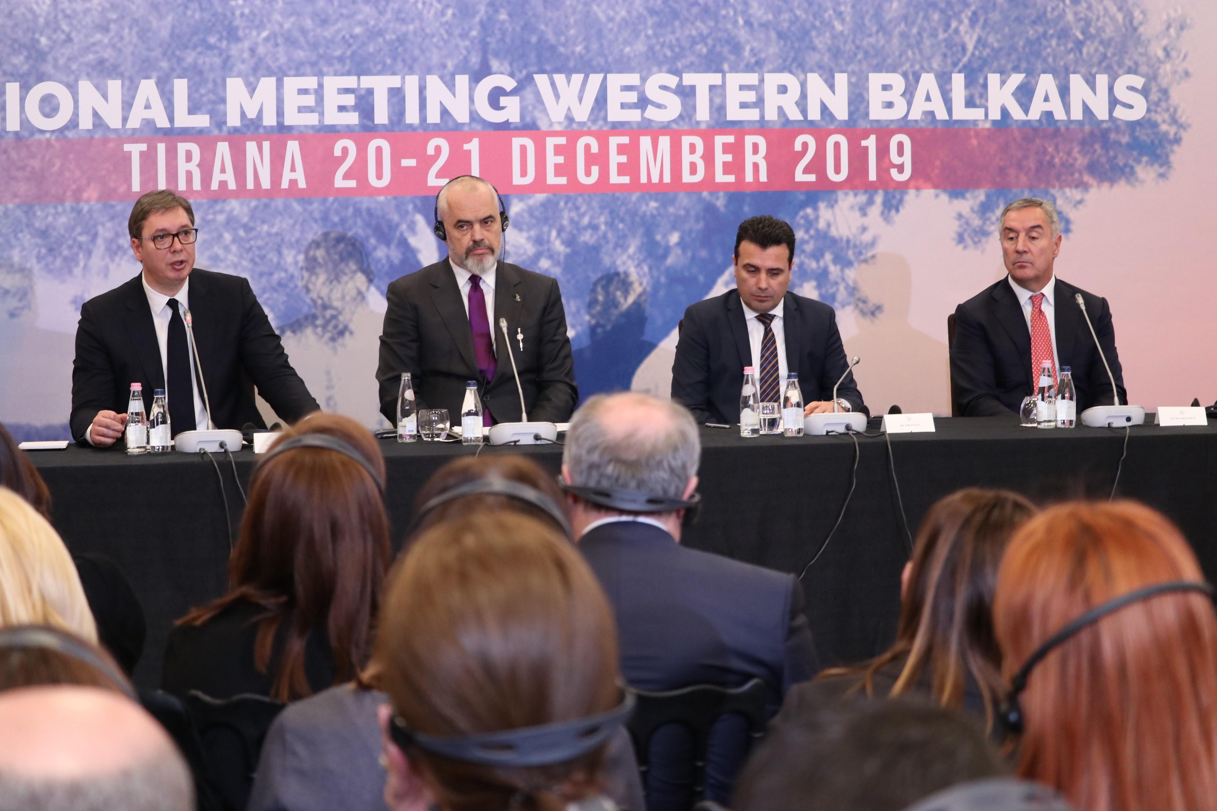 A közös gazdasági övezet létrehozásáról tárgyaltak Szerbia, Albánia, Észak-Macedónia és Montenegró vezetői