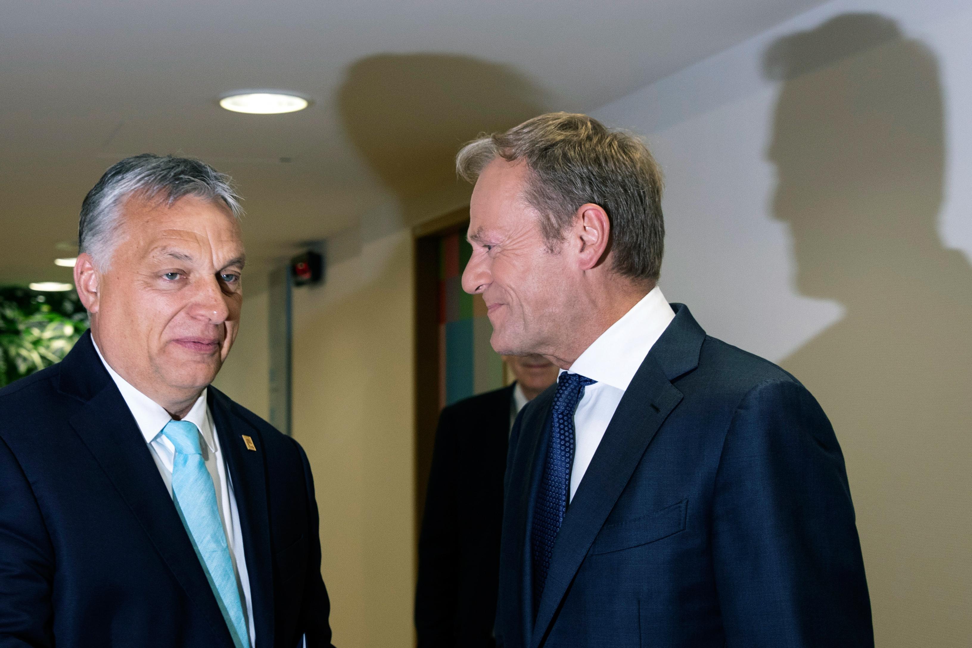 Donald Tusk: Aki a jogállamiság ellen van, az Európa ellen van