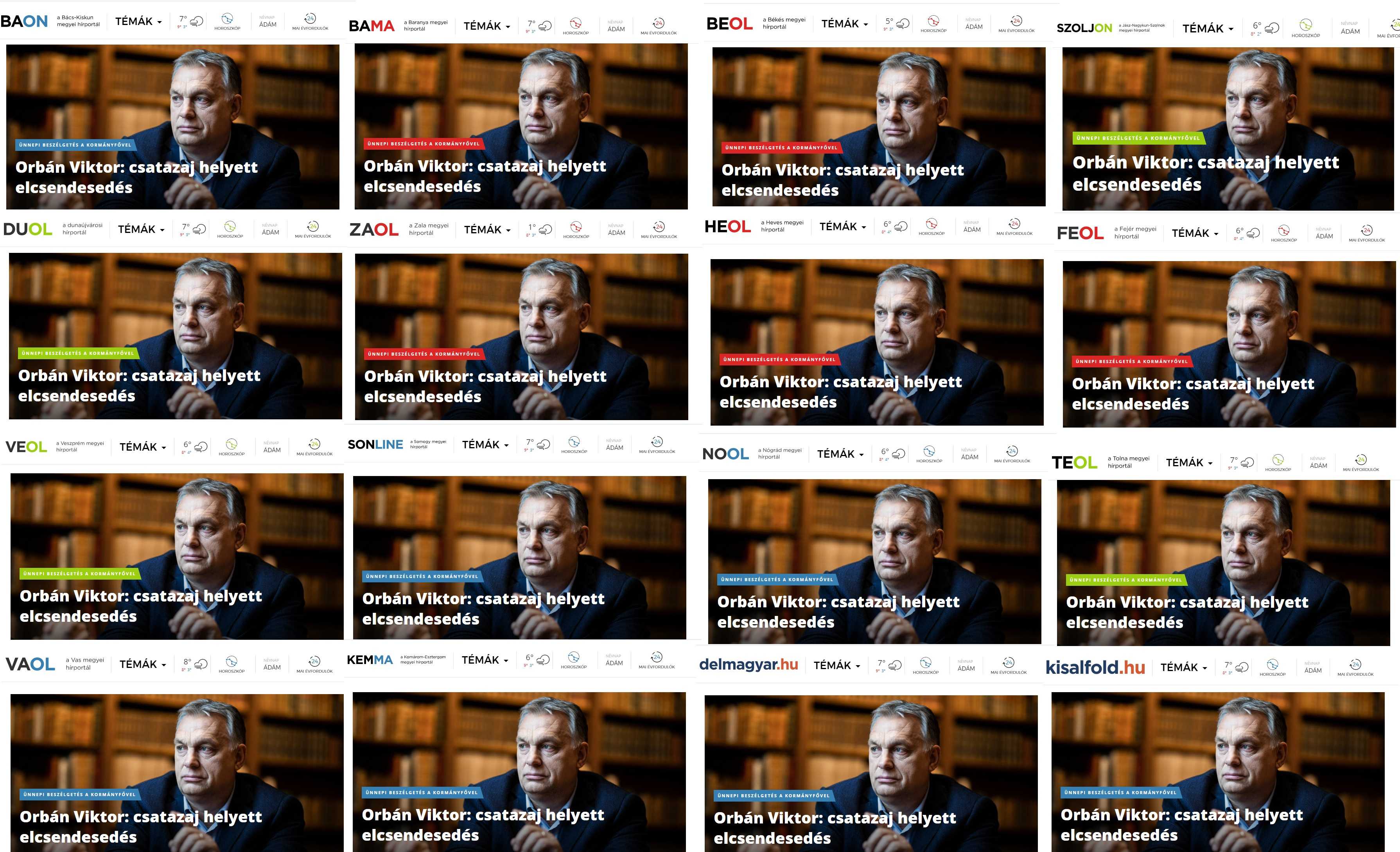 Orbán Viktor kormányhatározatba foglalta, hogy Magyarországon valódi pluralizmus érvényesül a médiában