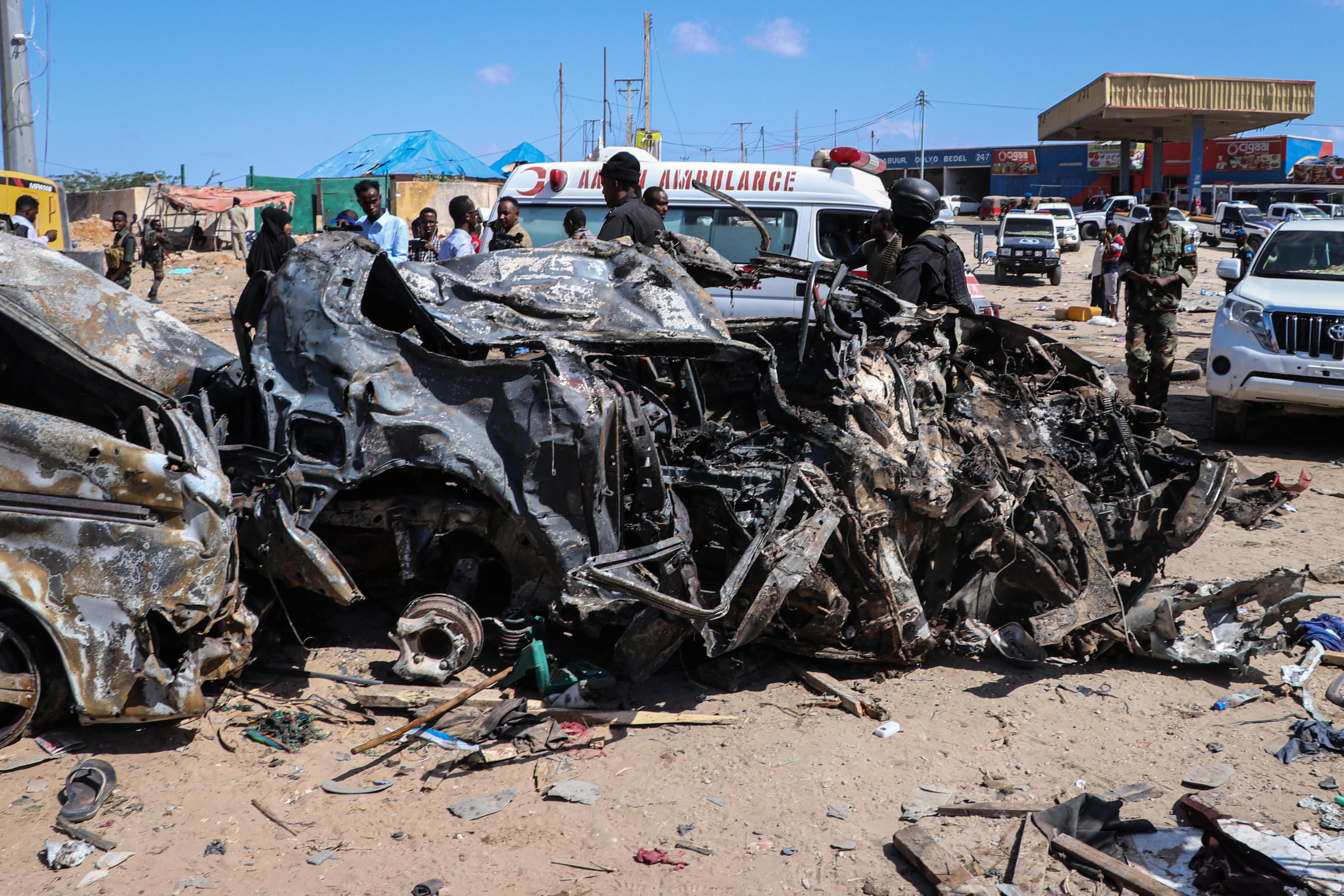 Teherautóba rejtett bomba robbant Mogadishu egyik forgalmas pontján