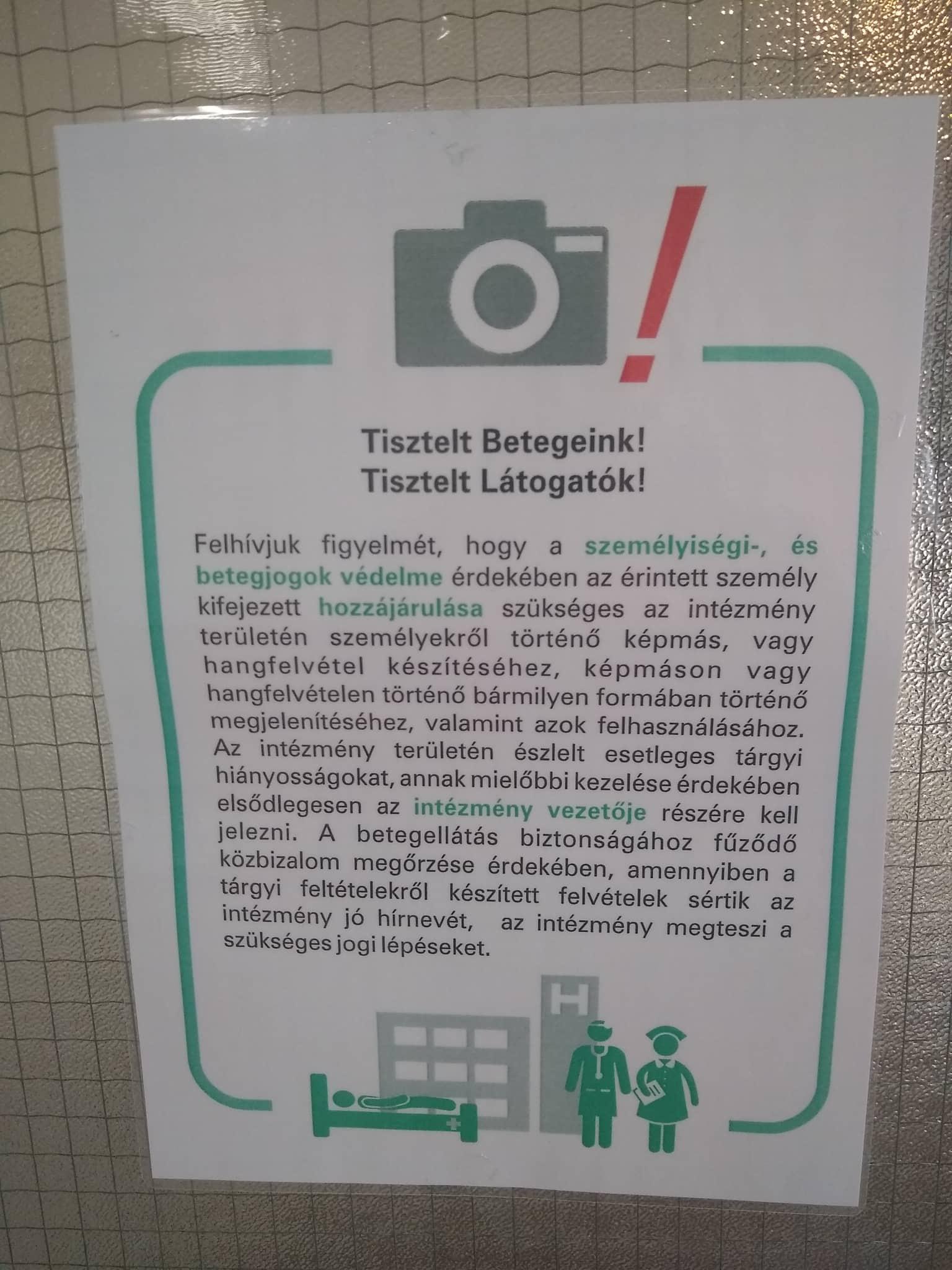 Ombudsman: Nem lehet megtiltani a kórházakban a fényképezést