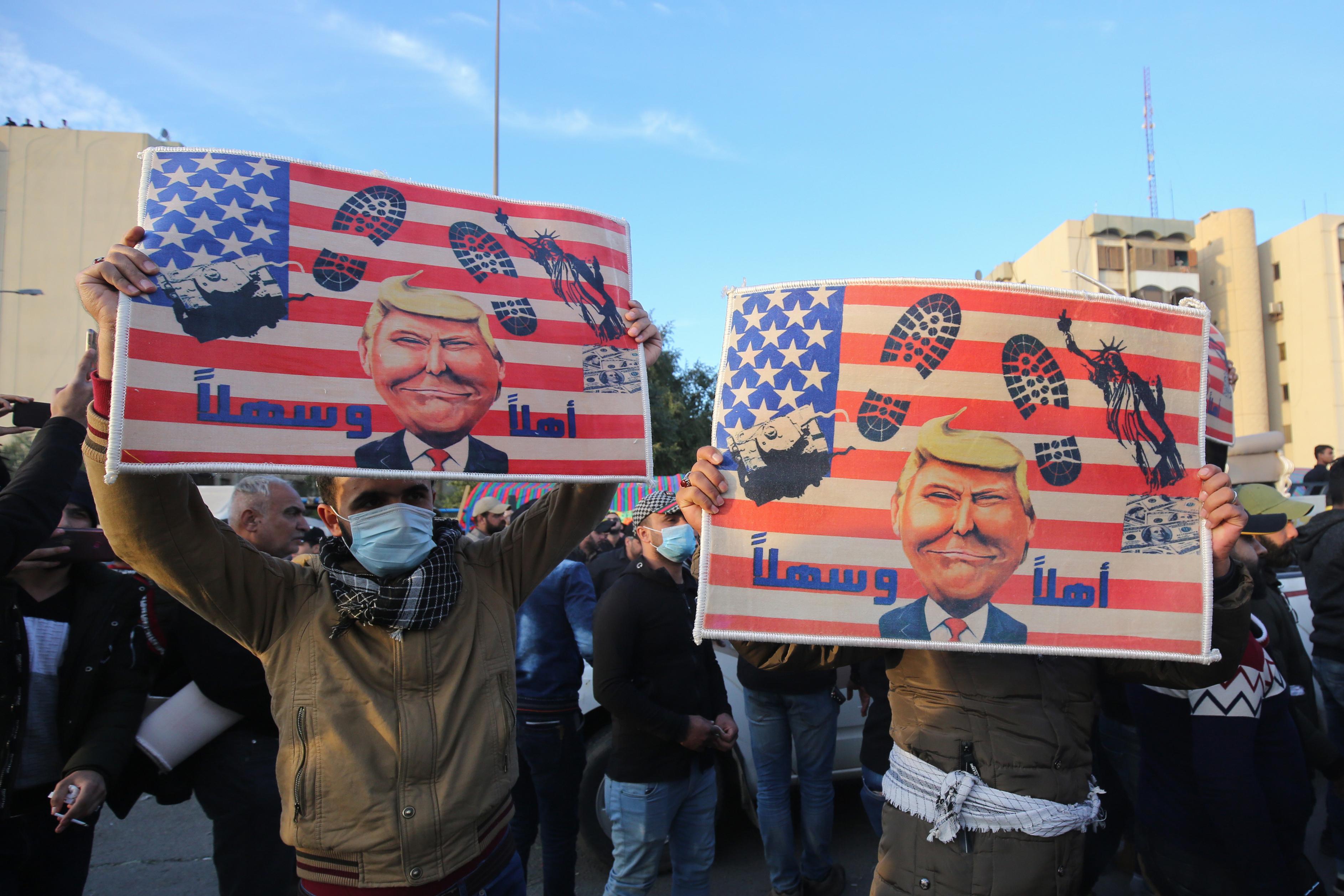 Elvonultak a tüntetők a bagdadi amerikai nagykövetségtől