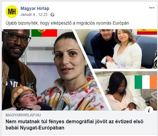 """""""Migráns hátterű"""" babákról szóló cikkel pörgeti a rasszista hisztériát a Magyar Hírlap"""