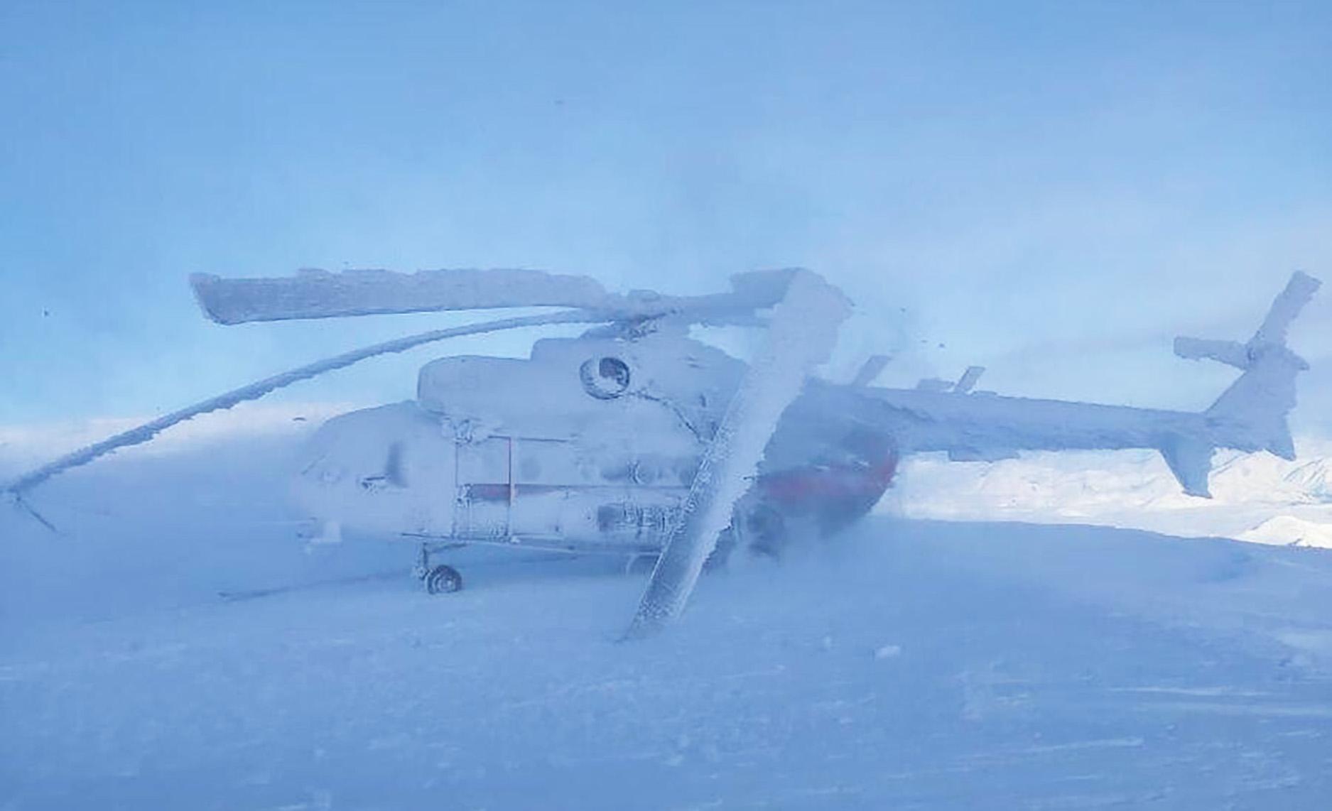 Ez neked tél?: Így néz ki egy szibériai helikopter, miután ráfújt egy gejzír