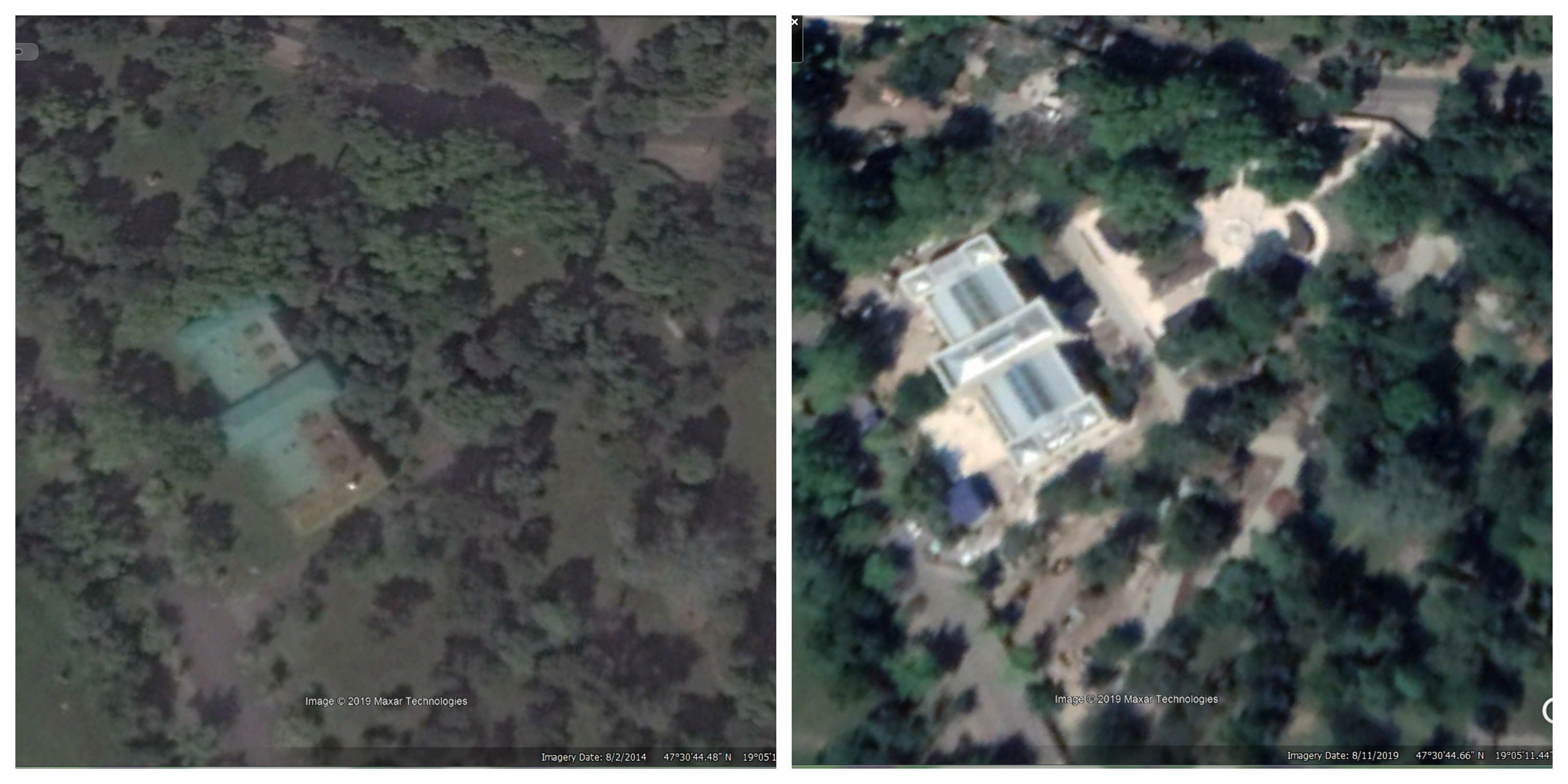 Google Earth fotókon látható, hogyan alakul át a Városliget