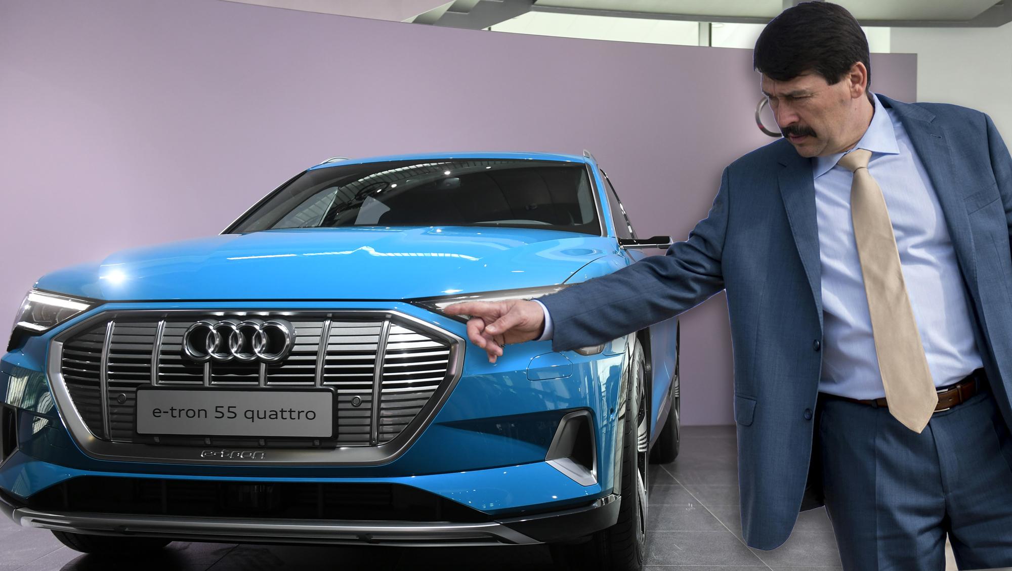 28 milliós elektromos Audi terepjárót kapott Áder