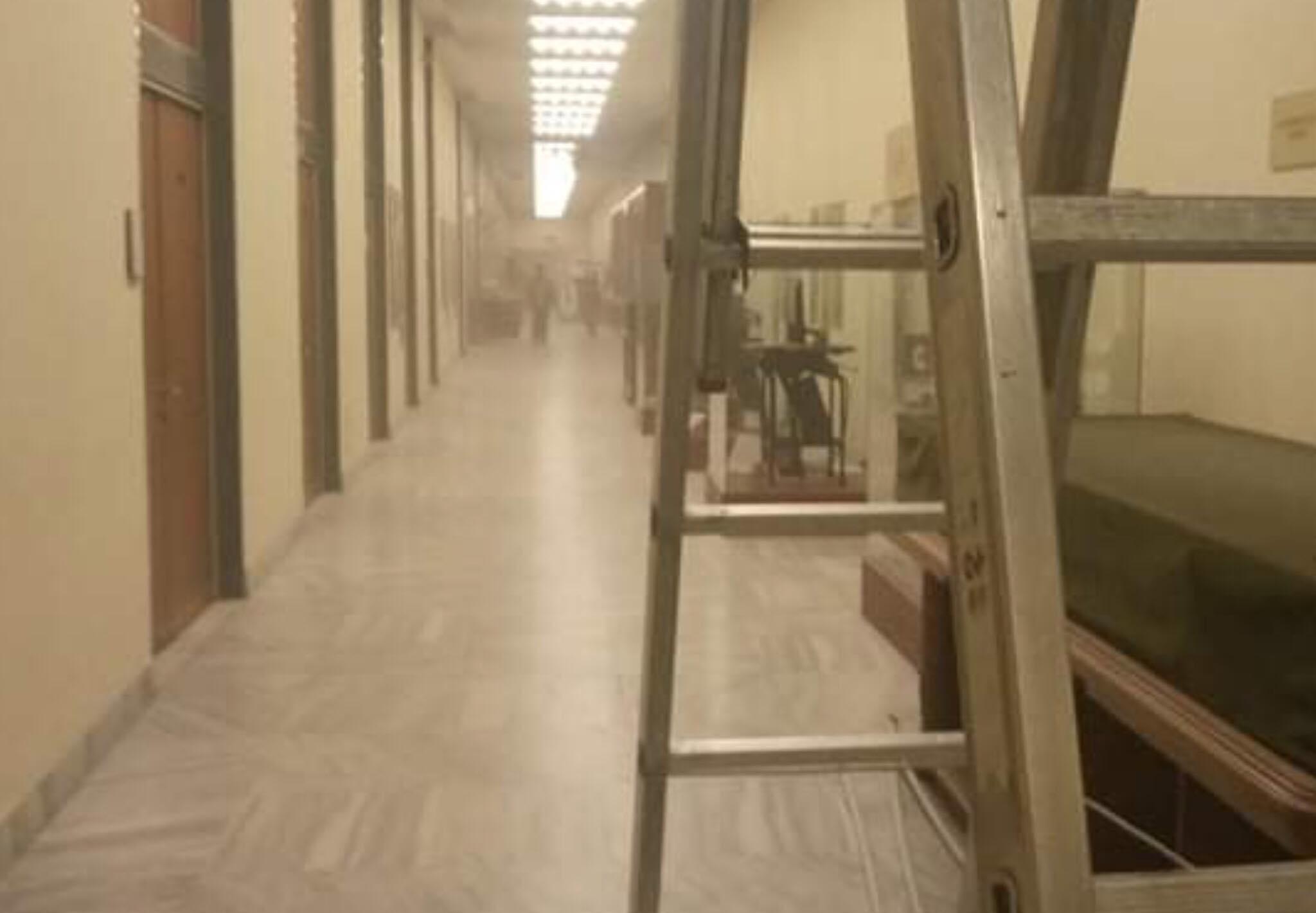 Az OSZK rendkívüli levegőtisztaság mérést végez azokon az emeleteken, ahova nagy mennyiségű por szállt be