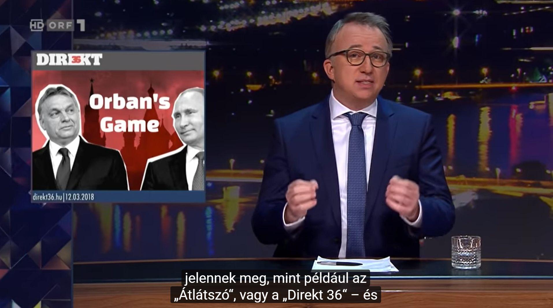 16 percen át volt téma a magyar médiahelyzet az osztrák állami tévé esti talk show-jában