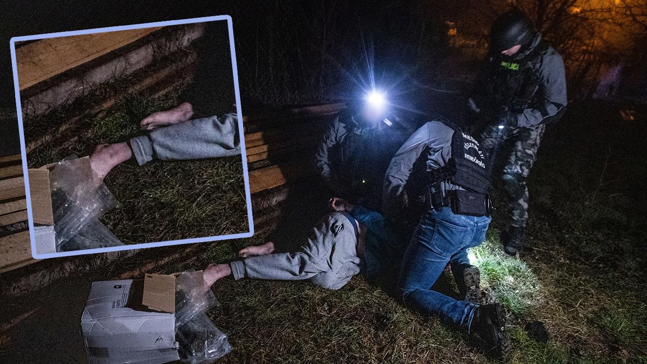 Mezítláb, hóna alatt több kiló droggal próbált elmenekülni a díler