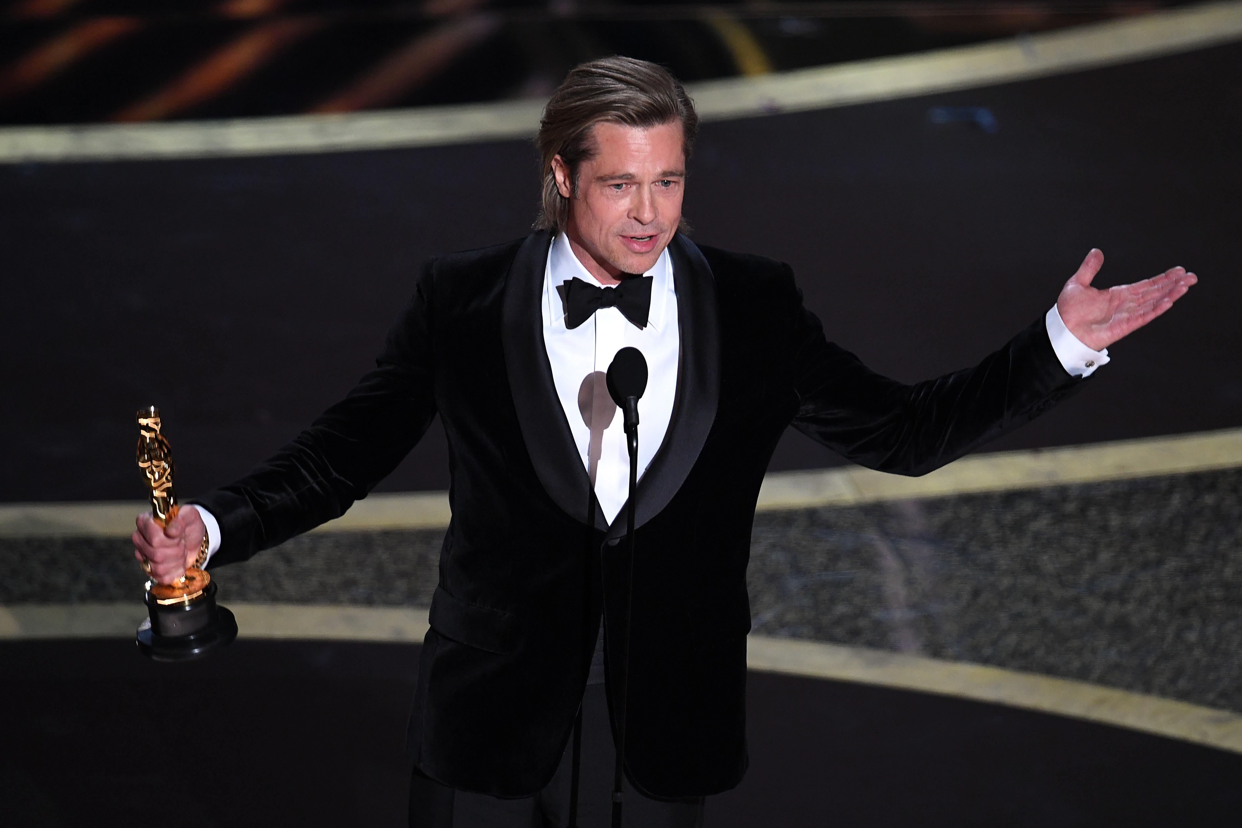 Brad Pitt végre megkapta az Oscar-díját