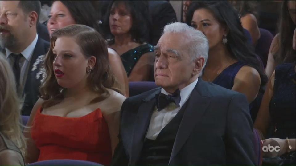 Az Oscar-gála legőszintébb pillanata: ahogy Scorsese nézi Eminem fellépését