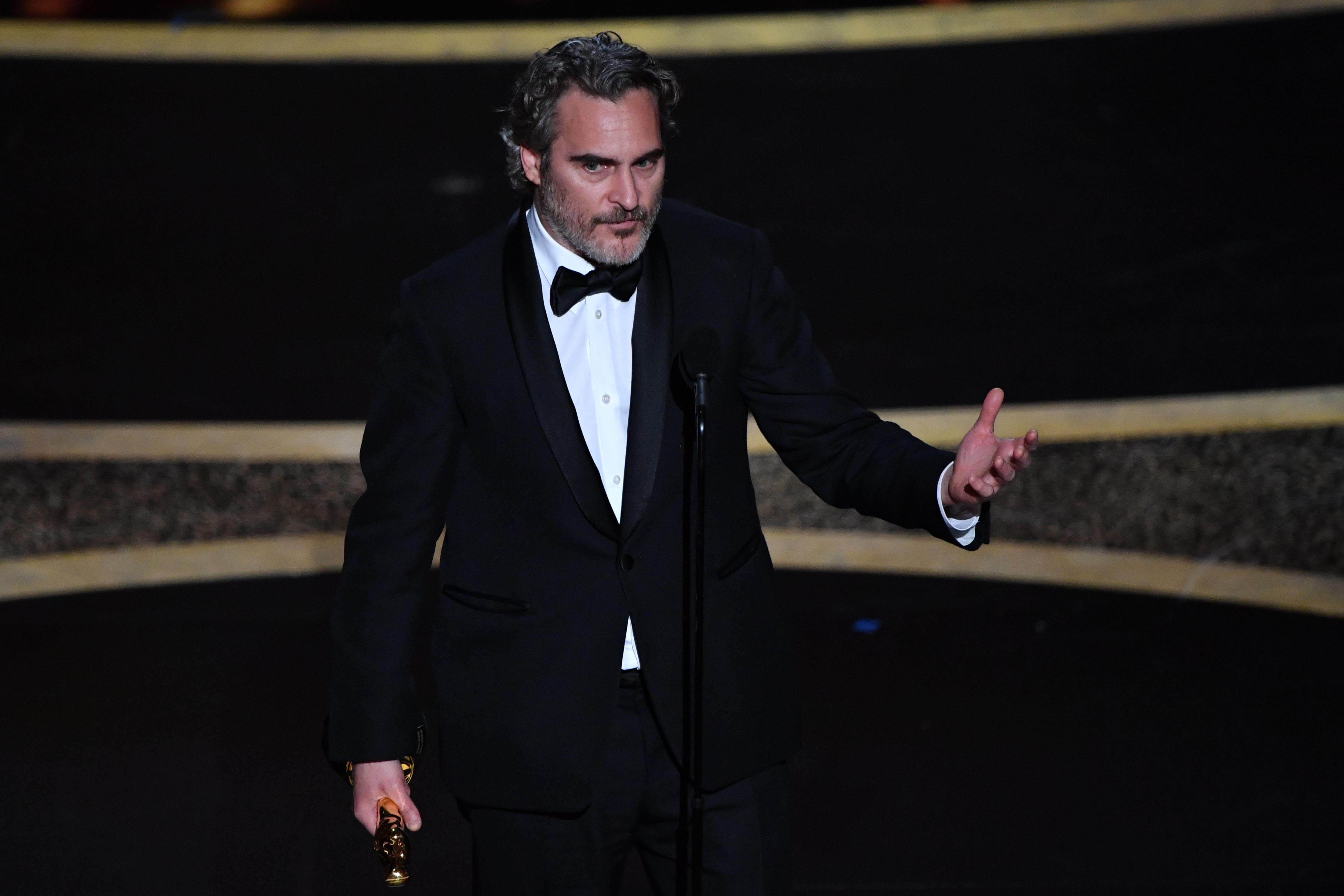 Joaquin Phoenix Oscart nyert, majd egy szenvedélyes beszédet mondott az állatok jogairól