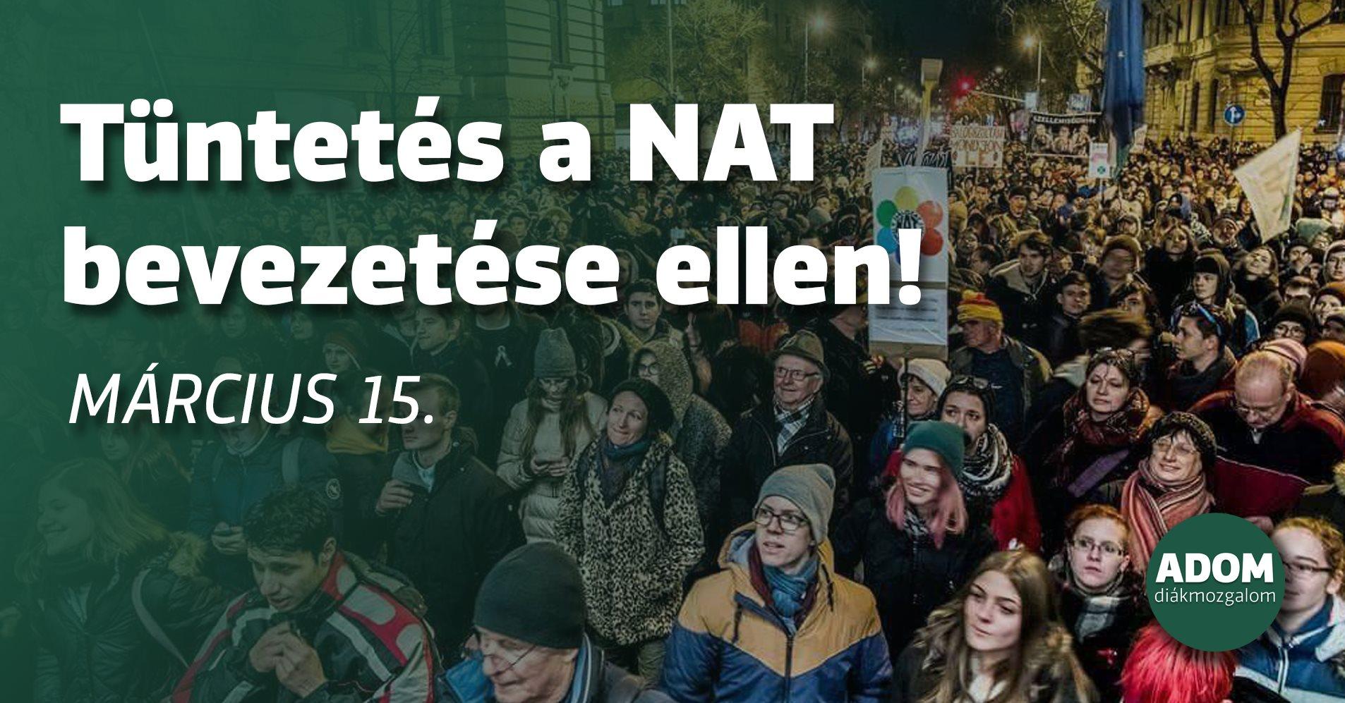 Tüntetést szerveznek a NAT ellen március 15-ére az Opera elé