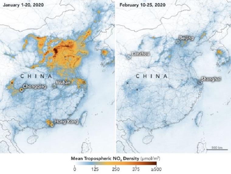 Drasztikusan csökken a kínai légszennyezettség, mióta a koronavírus miatt megállt az élet