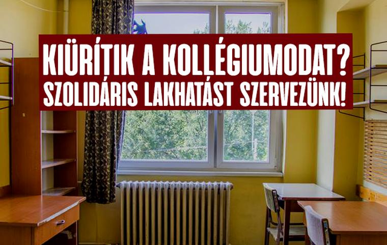 Szolidáris lakhatást szervez a kollégiumokból kirakottaknak a Hallgatói Szakszervezet