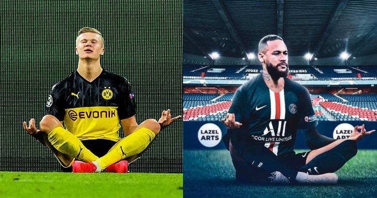 A komplett PSG azzal szórakozott, hogy többször is kigyúnyolja a Dortmund 19 éves csatárát