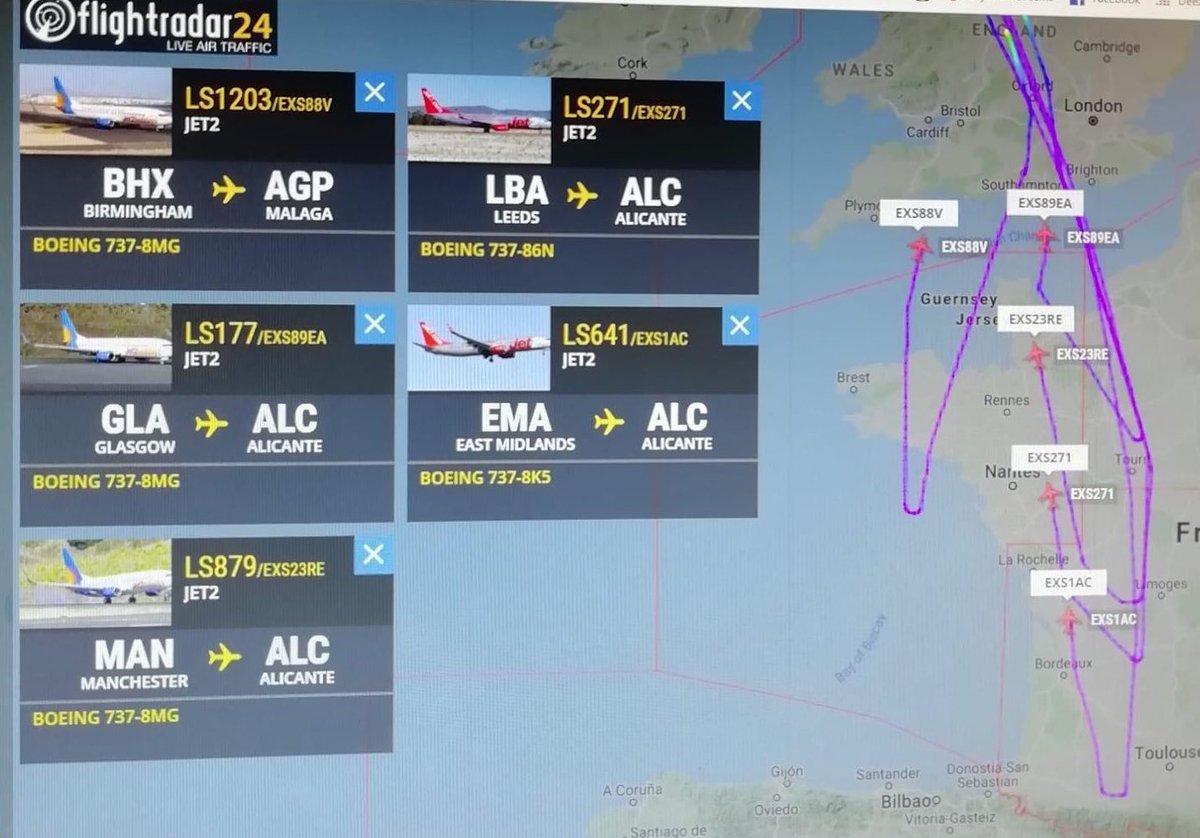 A levegőben fordultak meg a repülők, ahogy a brit légitársaság lemondta spanyolországi járatait