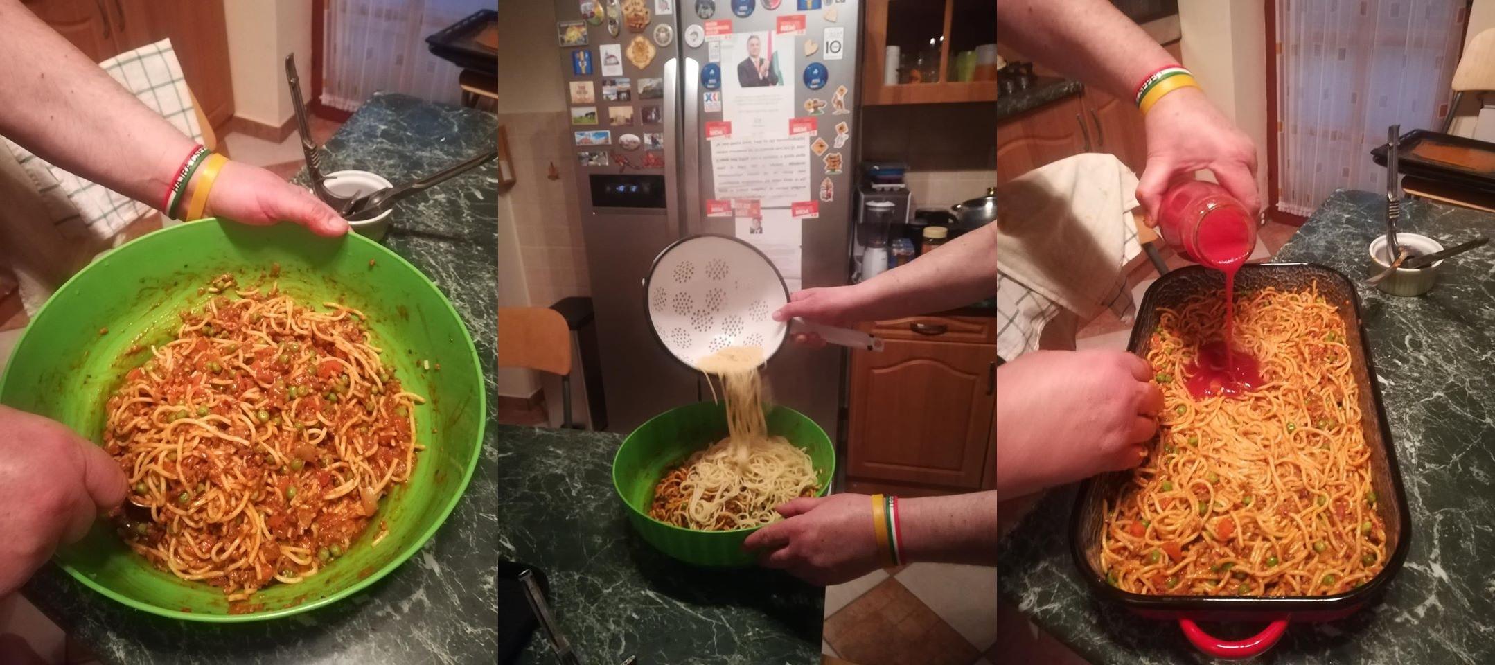 Németh Szilárd 1 hetes milánói makaróniból készített ételt