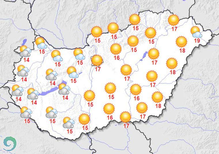Nézzük, milyen lesz a mai otthonmaradós időjárás