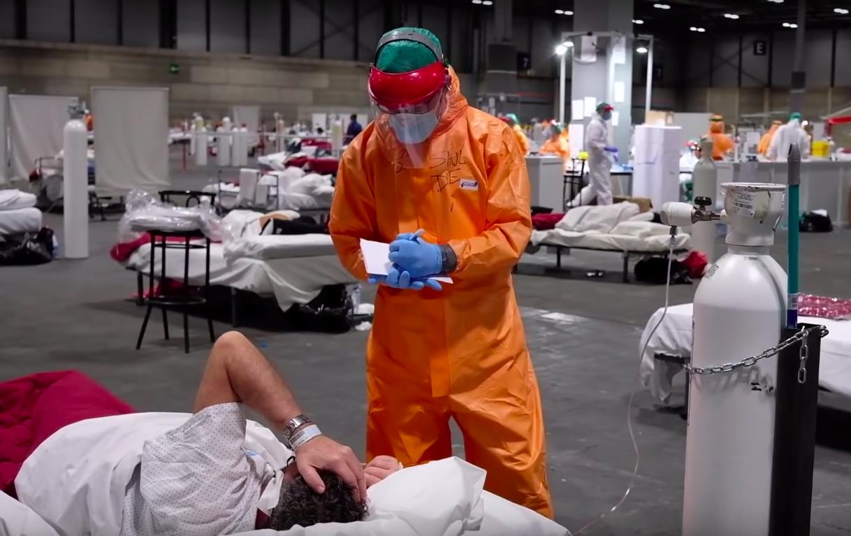 Drámai felvételek egy madridi tábori kórházból