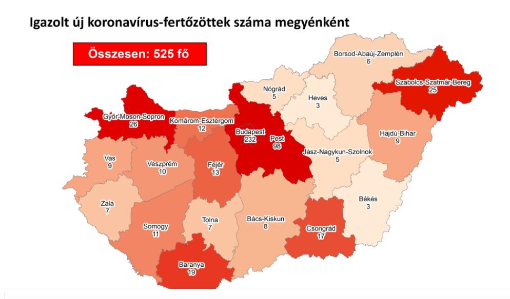 Térképre rakták a hazai koronavírus-fertőzéseket