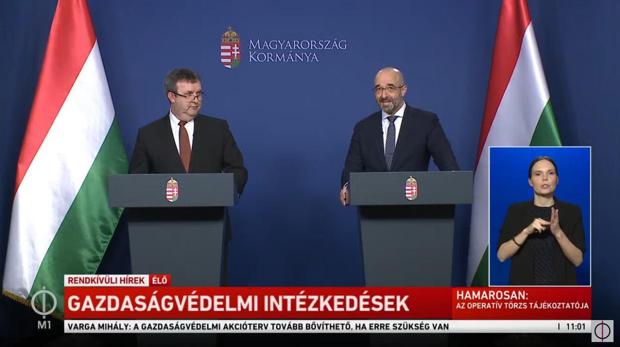Palkovics részletezte a gazdaságvédelmi tervet: rövidített munkaidőnél 3 hónapra vállalja át az állam a bér 70 százalékát