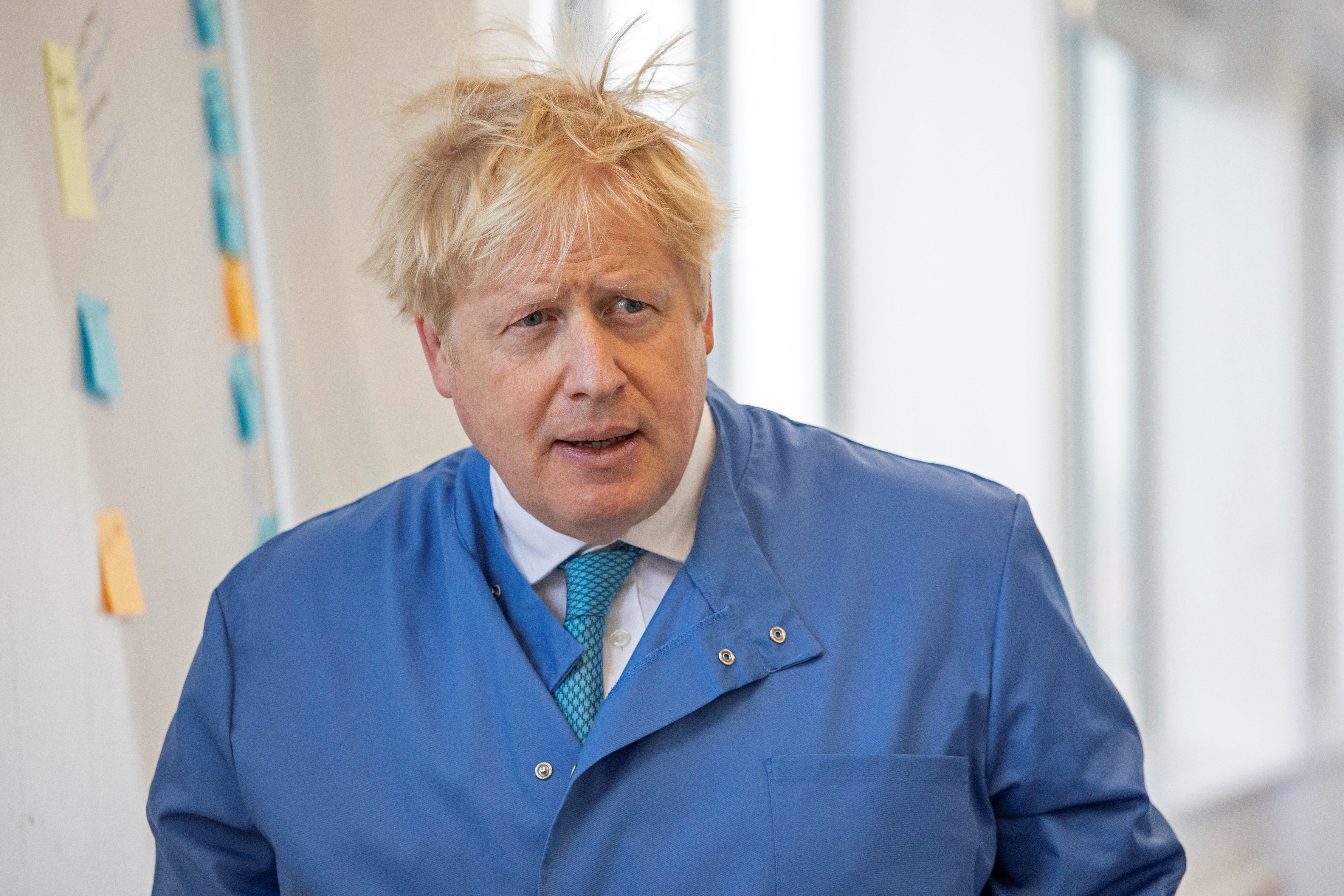 Boris Johnson a fogyást népszerűsíti