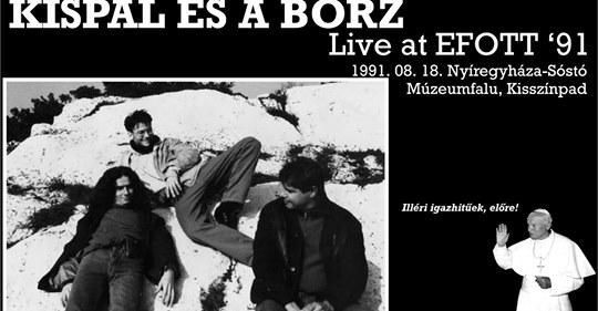 1991-es Kispál és a Borz koncertfelvétel bukkant elő
