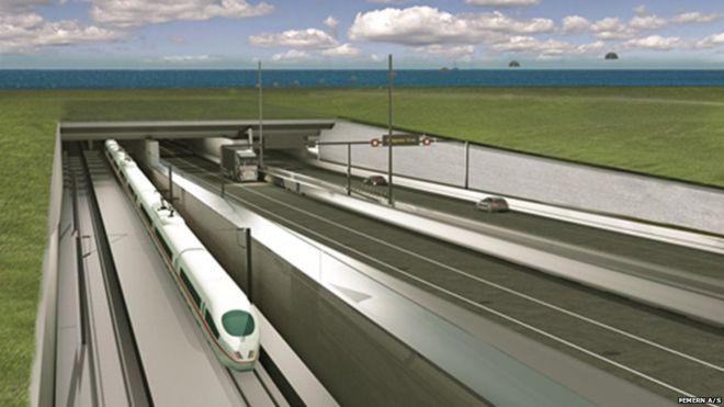 A világ leghosszabb vízalatti alagútjával kötik össze Dániát és Németországot