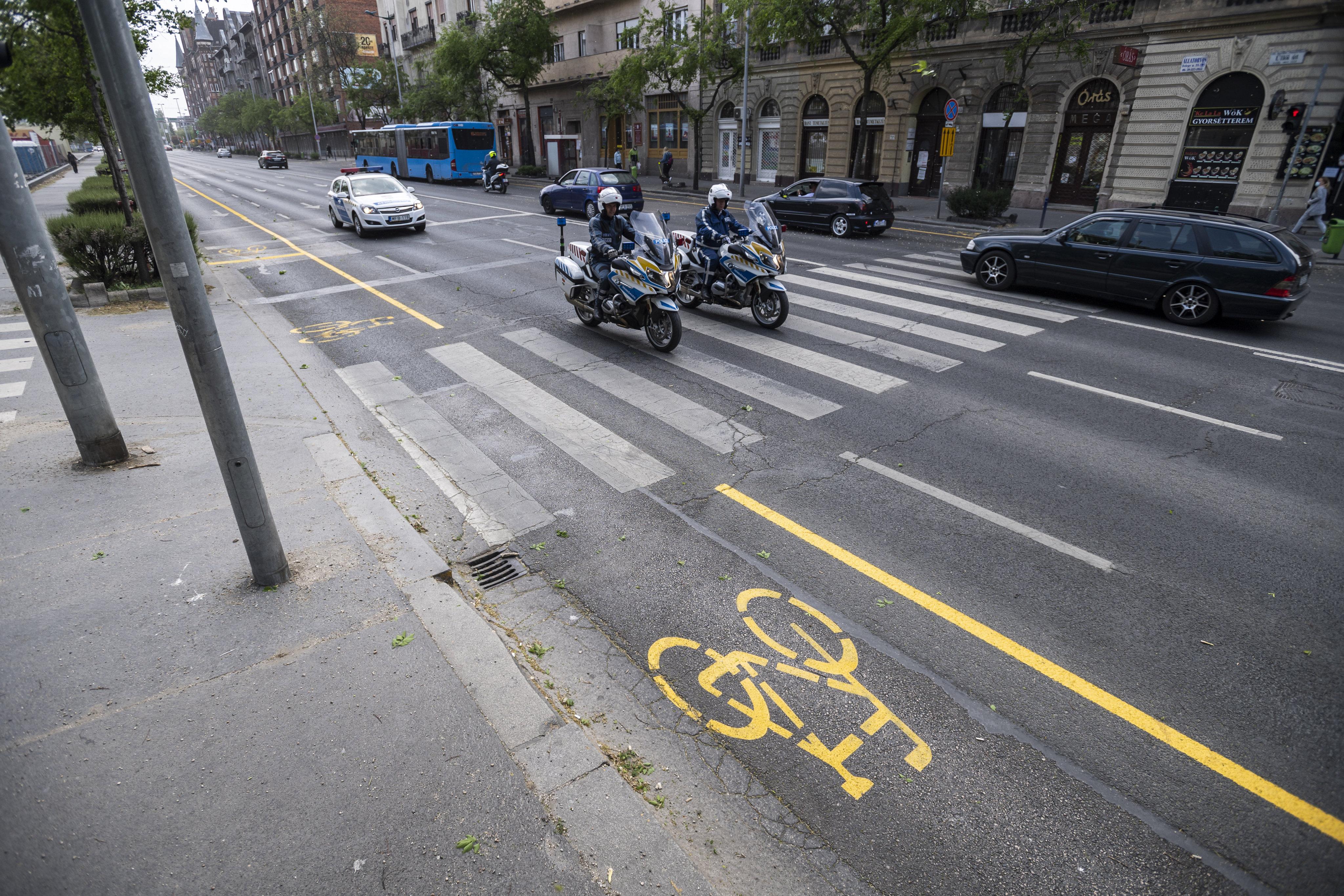 A járvány idejére kerékpársávot létesítenek a Nagykörúton