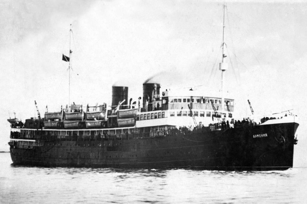 Megtalálták a Fekete-tengerben az Armenyija szovjet kórházhajó roncsait