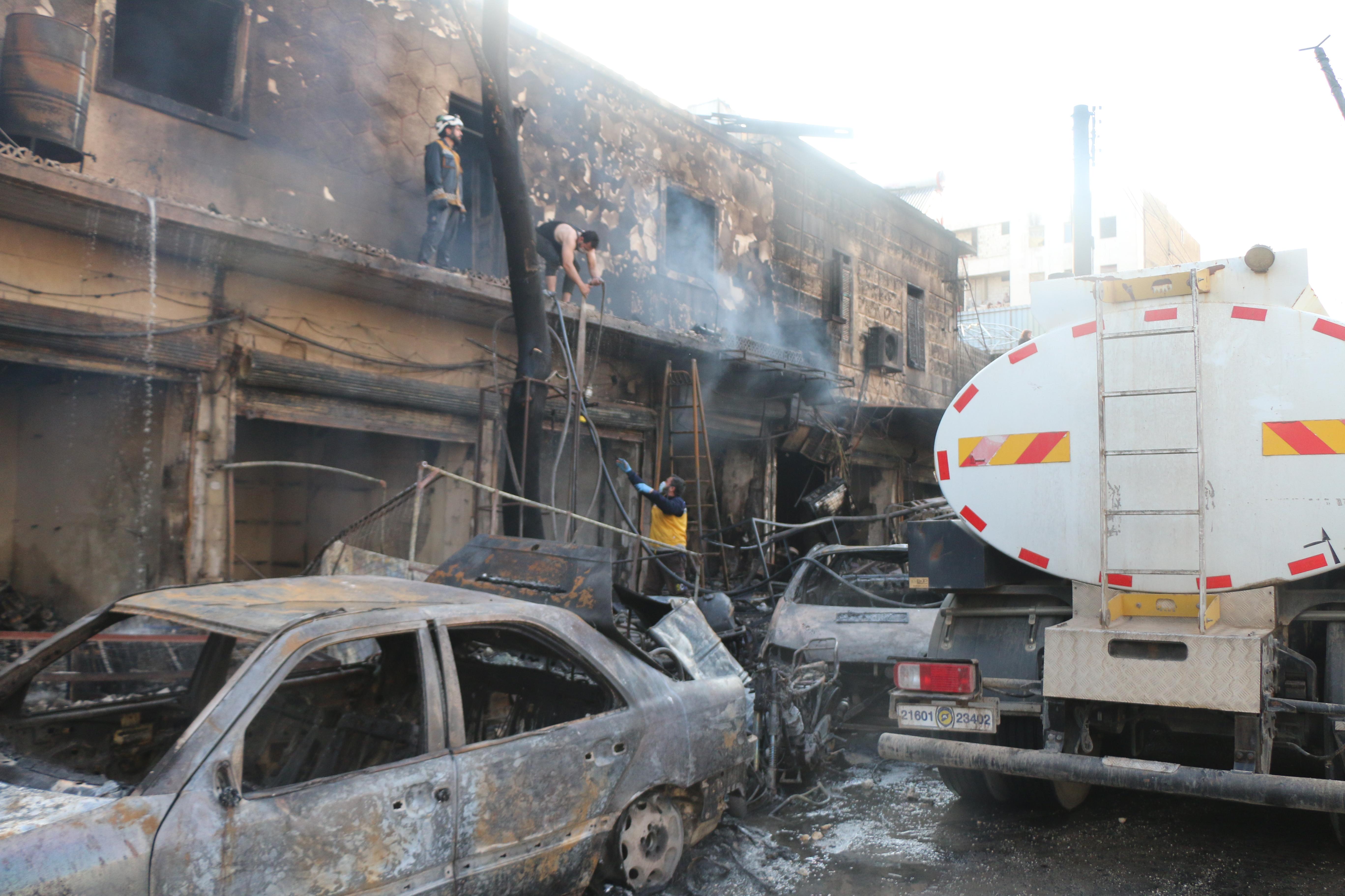 Negyvenen meghaltak egy szíriai piaci robbantásban