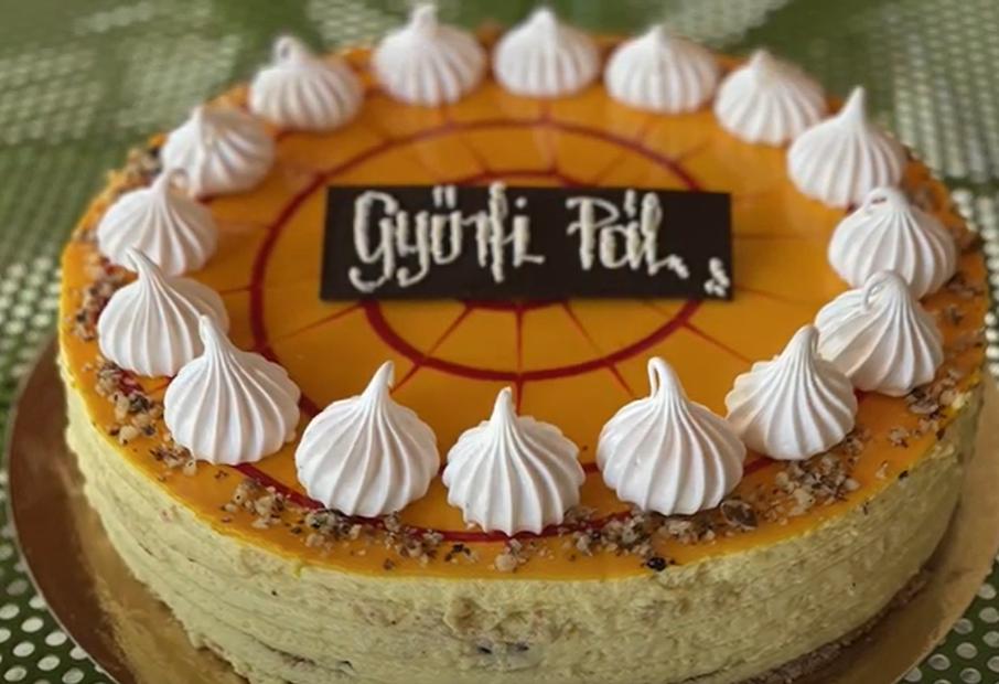 Győrfi Pálról otthonízű tortát neveztek el