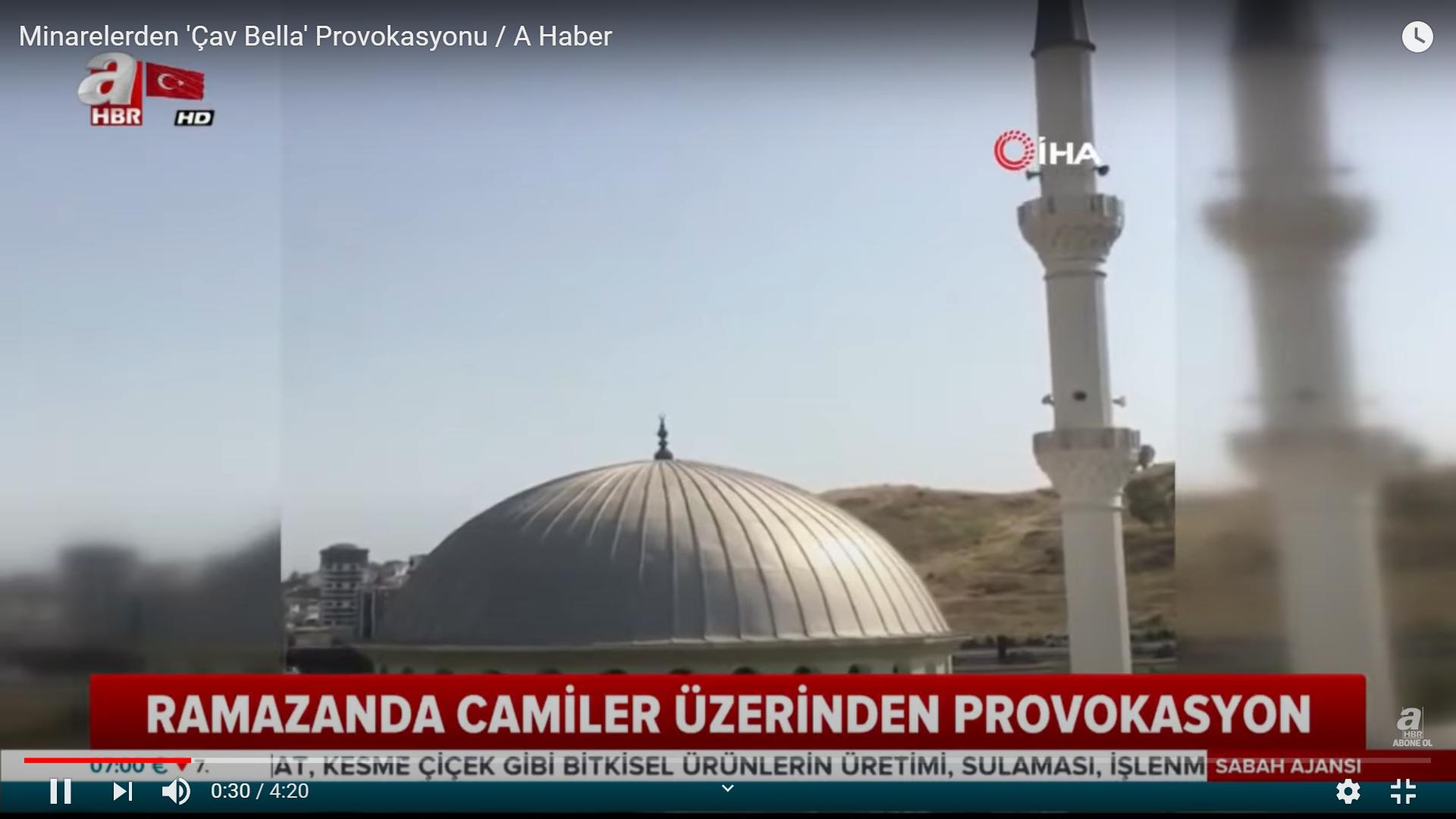 Partizándalt játszottak a müezzin éneke helyett egy török város minaretjei