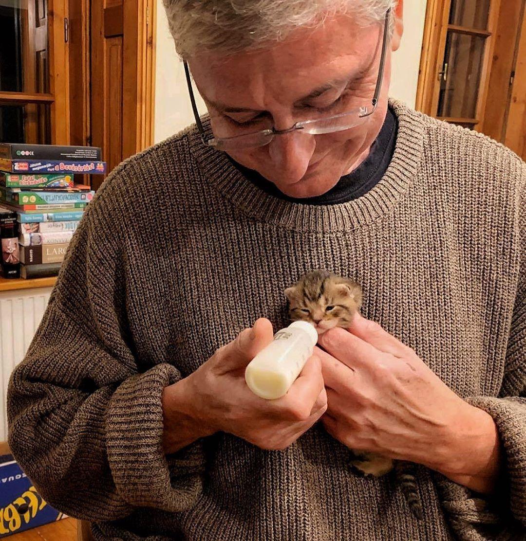 Itt tartunk: Gyurcsány kiscicát etet