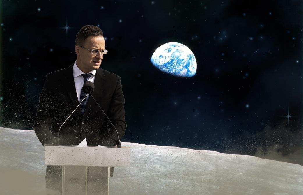 Szijjártó: Az űr a határainkon kívülre esik, ezért külügyi kérdés