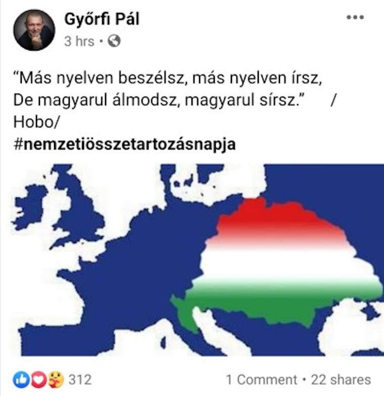 Győrfi Pál zászlót bontott a fél Európára kiterjedő Giga-Magyarország-koncepció mellett, aztán sajnos meggondolta magát