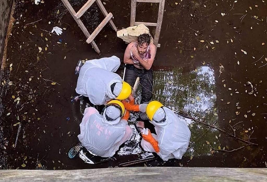 Gödörbe esett egy brit férfi Balin, hat napig kiáltozott, mire megtalálták