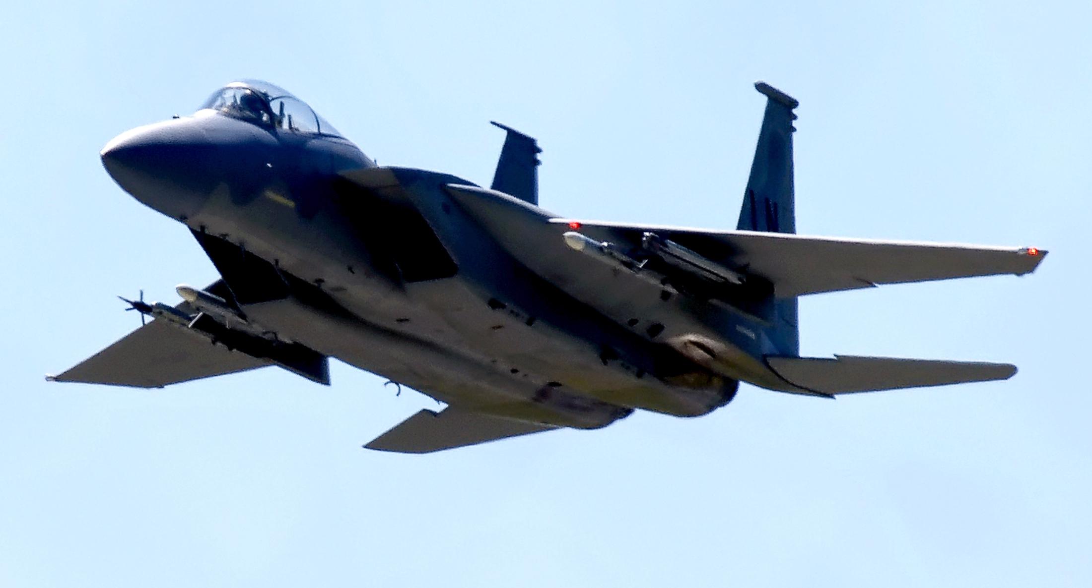 Tengerbe zuhant egy amerikai vadászgép Anglia partjainál, a pilóta nincs meg