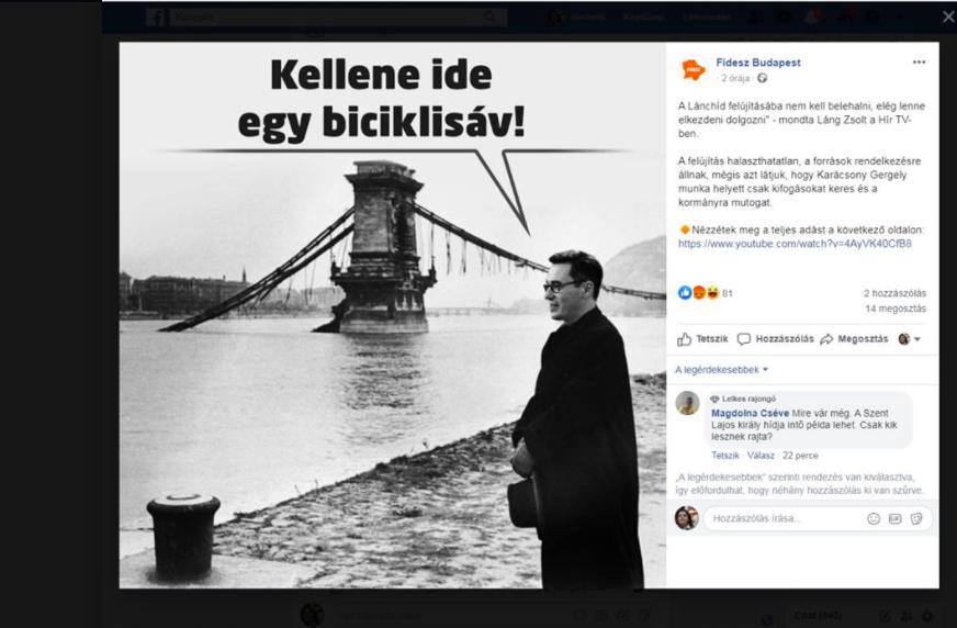 Szálasi Ferenchez hasonlította Karácsony Gergelyt a budapesti Fidesz Facebook-oldalának grafikája, amikor rákérdeztünk, leszedték és elnézést kértek